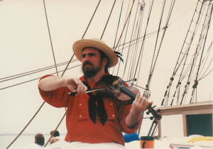 Special out of state speaker Simon Spalding, Maritime Music Historian of New Bern, NC