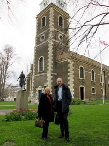 St George's Church, Pocahontas Statue and Pocahontas Gardens with Reverend Chris Stone and me.